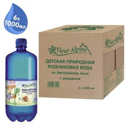Вода детская питьевая Fleur Alpine с рождения 1л/6, упаковка из 6 шт.
