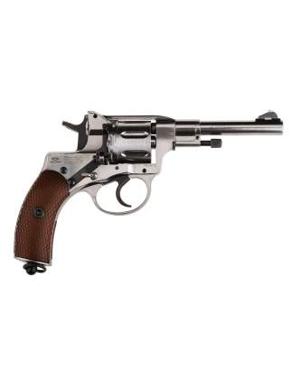 Револьвер пневматический Gletcher NGT F Silver + 3 баллона СО2