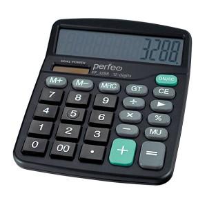 Perfeo калькулятор PF_3288, бухгалтерский, 12-разр., GT, черный (DC-838B)