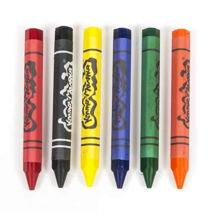 Набор восковых карандашей, толстые, 6 цветов Каляка-Маляка