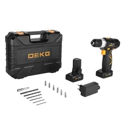 Аккумуляторная дрель-шуруповерт DEKO GCD20DU3 SET 3 в кейсе + оснастка 13 шт