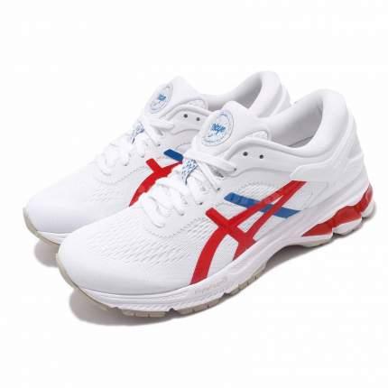 Кроссовки Asics Gel-Kayano 26, white/classic red, 11.5 US