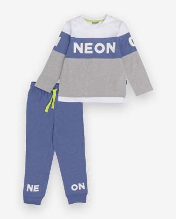 Пижама детская Gulliver, цв. синий; серый р.122