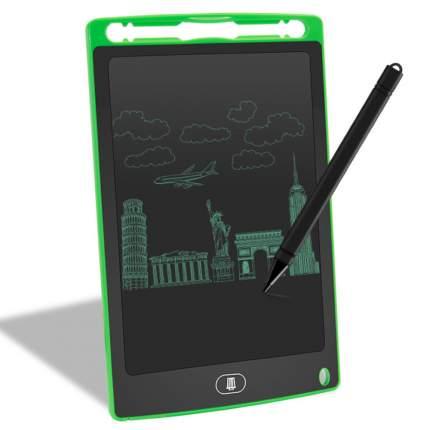"""Графический планшет для рисования Little Rainbow диагональ 8,5"""", зеленый"""
