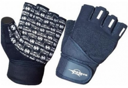 Перчатки для фитнеса и атлетики Hunter Sports HSF-307-2-A, черные, S