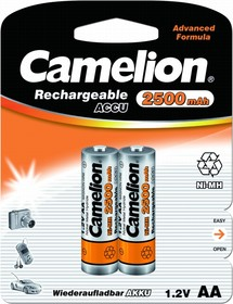 Аккумуляторная батарея Camelion AA-2500mAh Ni-Mh BL-2