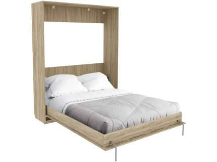 Двуспальная кровать Мерлен К04 Дуб Сонома, 1400х2000 мм