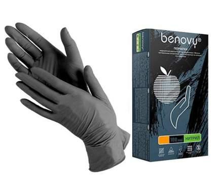 Перчатки нитриловые одноразовые Benovy L черный 100 шт. (50 пар)