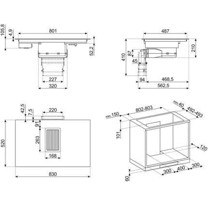Встраиваемая индукционная панель Smeg HOBD682D