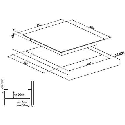 Встраиваемая индукционная панель Smeg SI1F7635B
