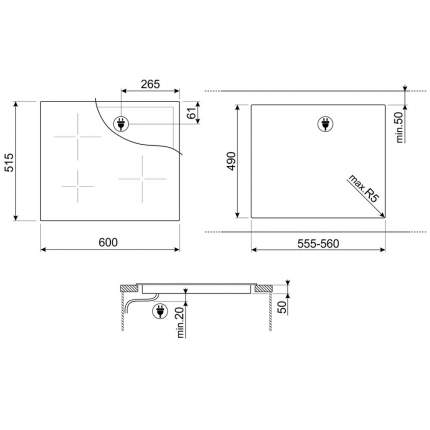 Встраиваемая индукционная панель Smeg SI5641D