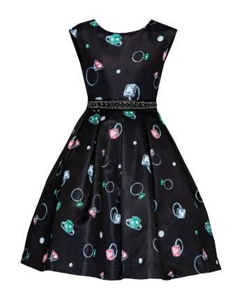 Платье для девочек Gulliver, цв. черный, р.122