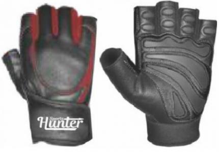 Перчатки для фитнеса и атлетики Hunter Sports HS-2001, черные, L