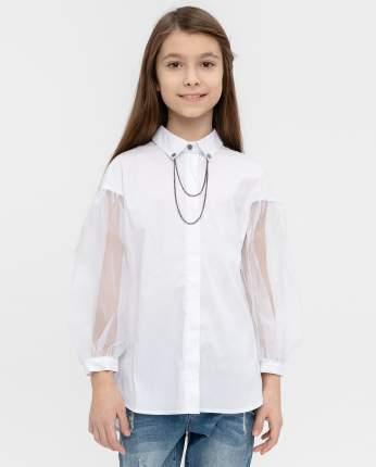 Блузка для девочек Gulliver, цв. белый, р.164