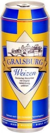 """Пиво """"Gralsburg"""" Weizen, in can"""