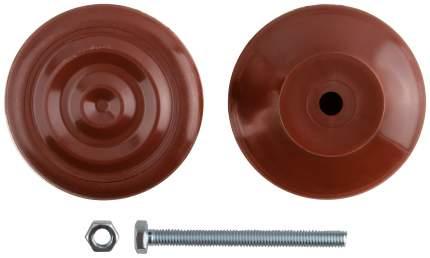 Ручка-кнопка дверная пластиковая коричневая КУРС 66837