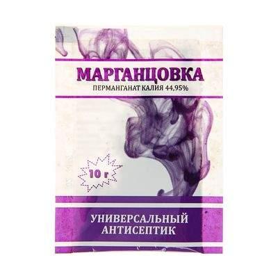 Марганцовка (перманганат калия) 10г (уп-100шт) Успех