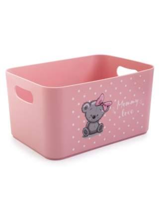 Корзина для детских игрушек Berossi Mommy love нежно-розовый