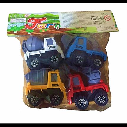 Игровой набор Toys Neo Строительные машины с инерционным механизмом, 4 шт.