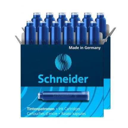 Картриджи для перьевой ручки Schneider Standard International синие 2х6шт.