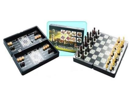 Набор игр Подарки и сувениры Настольный 3 в 1: шахматы, нарды, шашки 40x20x6 см, 42107