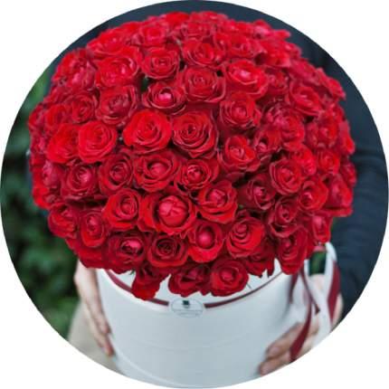 Букет Господин Цветаев 101 красная роза в коробке