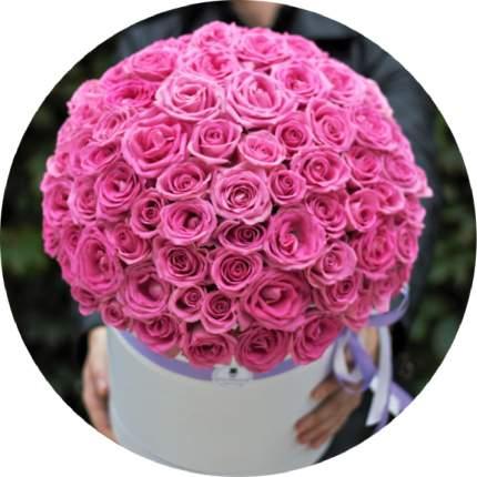 Букет Господин Цветаев 101 розовая роза в коробке