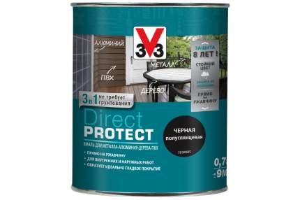 Эмаль Direct Protect V33 черная, 0.75л