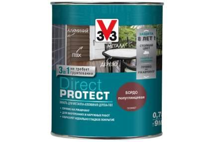 Эмаль Direct Protect V33 коричневая, 0.75л