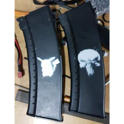 "Трафарет для покраски магазинов ""Punisher"" (Airsoft Store)"