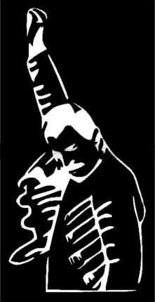 """Трафарет для покраски магазинов """"Фредди Меркьюри"""" (Airsoft Store)"""