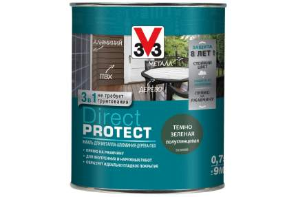 Эмаль Direct Protect V33 темно-зеленая, 0.75л