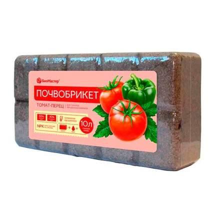 Субстрат для растений БиоМастер Почвобрикет Томат и перец 10 л