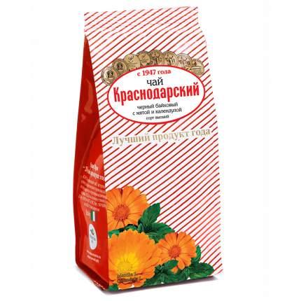 """Чай Краснодарский """"С календулой и мятой"""", черный листовой с добавками, 100 гр"""