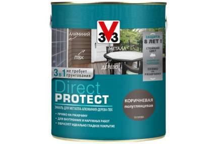 Эмаль Direct Protect V33 коричневая, 2.5л