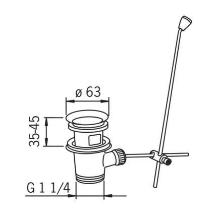 Донный клапан для раковины рычажный донный клапан Oras 552051