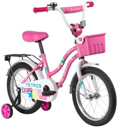 """Велосипед Novatrack Tetris.PN20 ножной тормоз 16"""" розовый"""