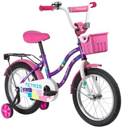 """Велосипед Novatrack Tetris.VL20 ножной тормоз 16"""" фиолетовый"""