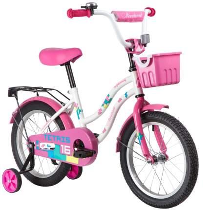 """Велосипед Novatrack Tetris.WT20 ножной тормоз 16"""" белый"""