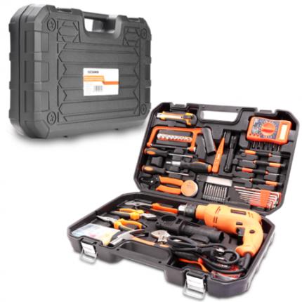Набор инструментов 128 предметов с дрелью SATAGOOD A5-21128