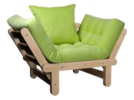 Садовое кресло  Сламбер Сосна натуральная, Салатовый, вельвет