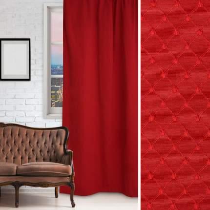 ЭТЕЛЬ Классические шторы Английский Стиль Цвет: Красный