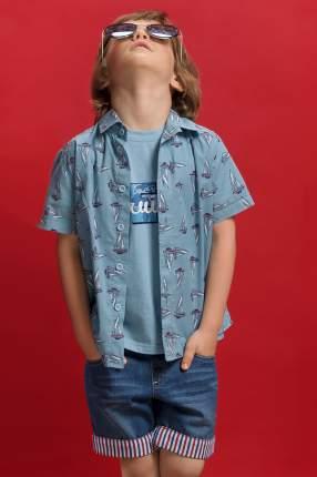 Сорочка детская Pelican, цв. голубой, р-р 110