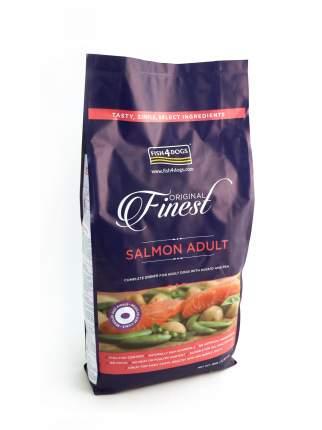 Сухой корм для собак Fish4Dogs Finest Adult для средних и крупных пород, лосось, 12кг