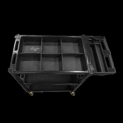 Тележка 3 яруса с высоким бортом  до 150 кг AuTech Au-8463Y