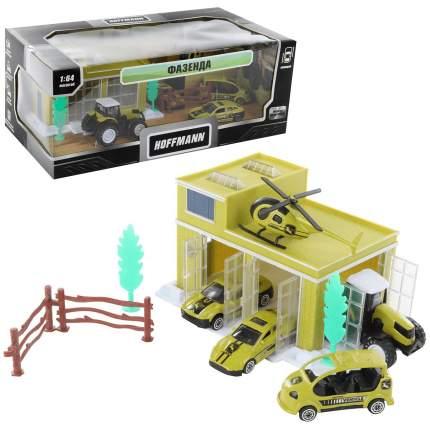 Игровой набор Hoffmann машинки инерционные с аксессуарами Фазенда, 72305
