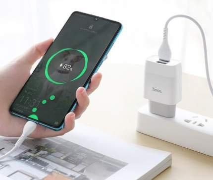 Сетевое зарядное устройство Hoco C73A 2 USB 2400 mAh Type-C