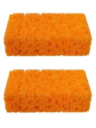 Губка банная Радиус Бриз оранжевая 2 шт