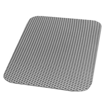 Коврик под миску для животных Зверье мое прямоугольный, серебро 60х37см