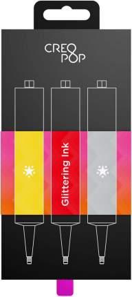 Чернила CreoPop Gold, Red, Silver SKU013 4А с блестками